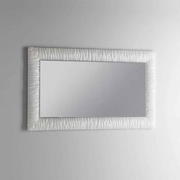 Oglindă de perete Chic, 70x3x120 cm, sticlă/abs, alb