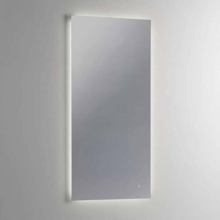 Oglindă de perete Light, 90x3x60 cm, sticlă/abs, transparent