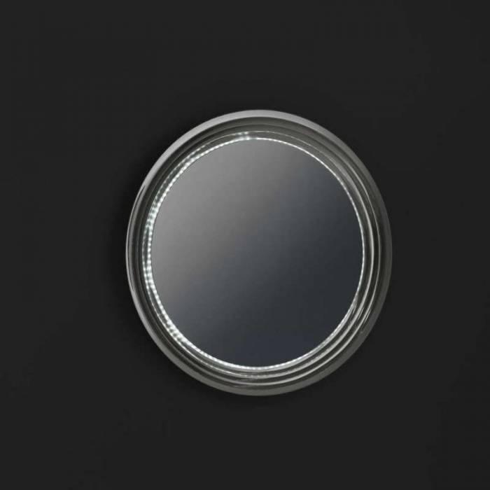 Oglindă de perete Lux, 90x8x90 cm, sticlă/abs, argintiu