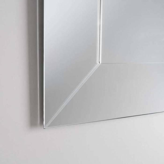Oglindă de perete Notch, 80x3x130 cm, sticlă/abs, transparent