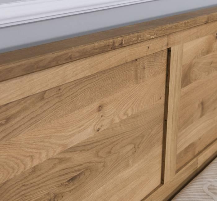 Pat din lemn de stejar Wild Oak 180x200 cm
