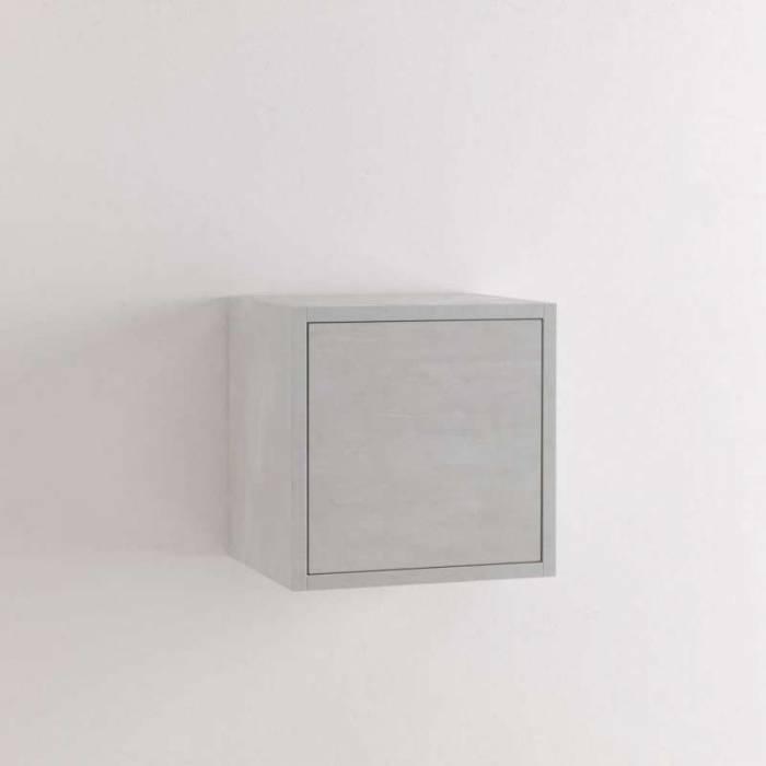Dulap suspendat Oslo, 34x27x34 cm, melamină, alb