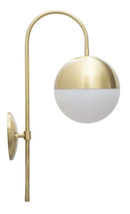 Aplică Glamy Street, 51x19x31 cm, metal/ sticla, auriu/ alb poza