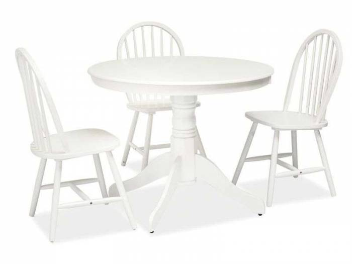 Masă albă de dining WindsorB