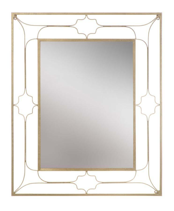 Oglindă de perete Glam, 100x80x3 cm, metal/ mdf/ sticla, auriu poza