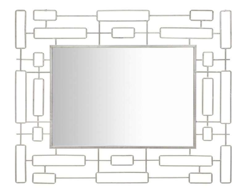 Oglindă de perete Ice, 100x80x2,5 cm, metal/ sticla, argintiu poza