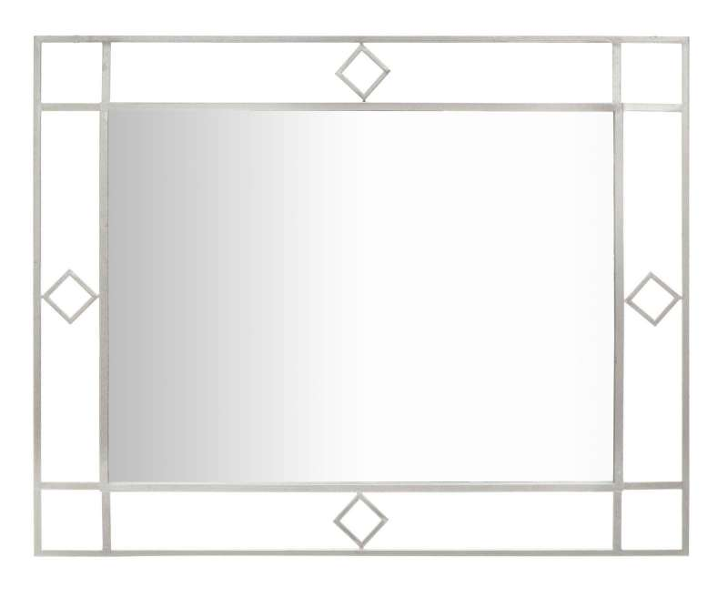 Oglindă de perete Oslo, 100x80x2,5 cm, metal/ sticla, argintiu poza