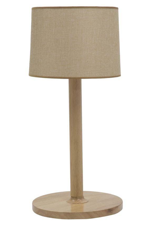 Veioză Mara, 61x28x28 cm, lemn/ textil, maro