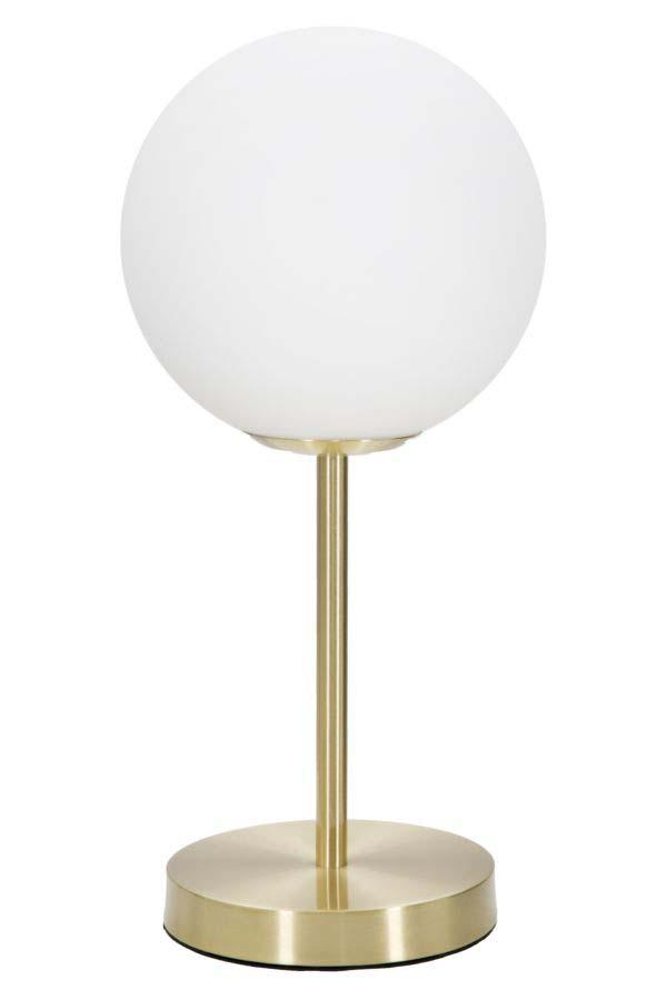 Aplică Glamy Simple, 43x20x20 cm, metal/ sticlă, auriu/ alb