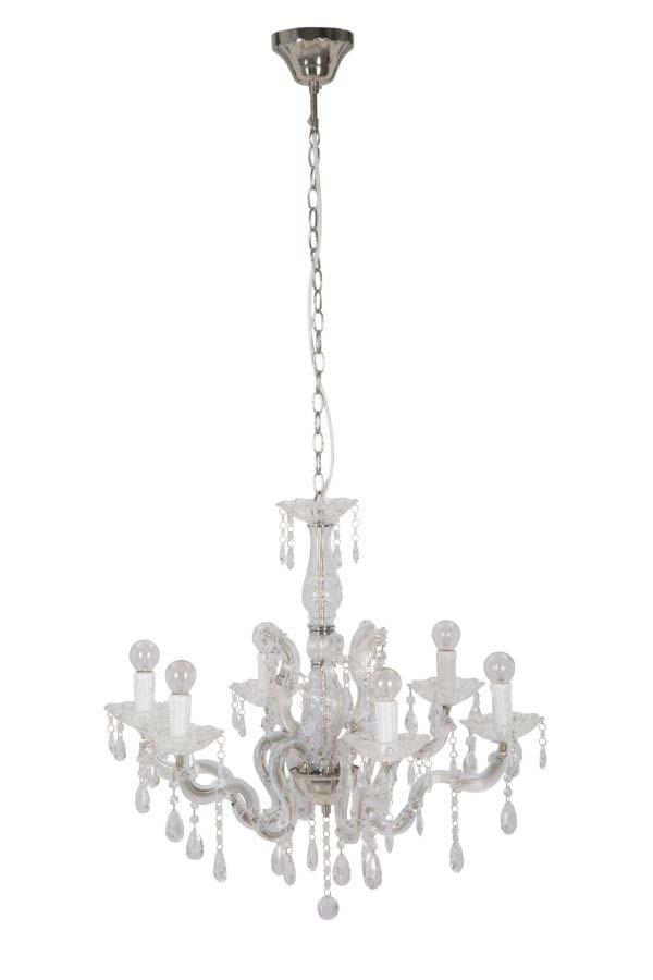 Candelabru Purity, 60x65x65 cm, metal/ plastic, alb