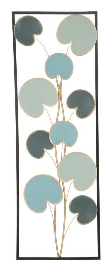 Decorațiune de perete Alle Left, 88.5x30x1.5 cm, metal, albastru