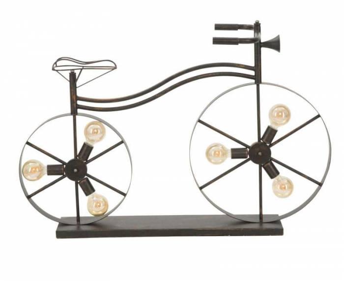 Lampadar Bicicletta, 70x110x49 cm, metal, negru