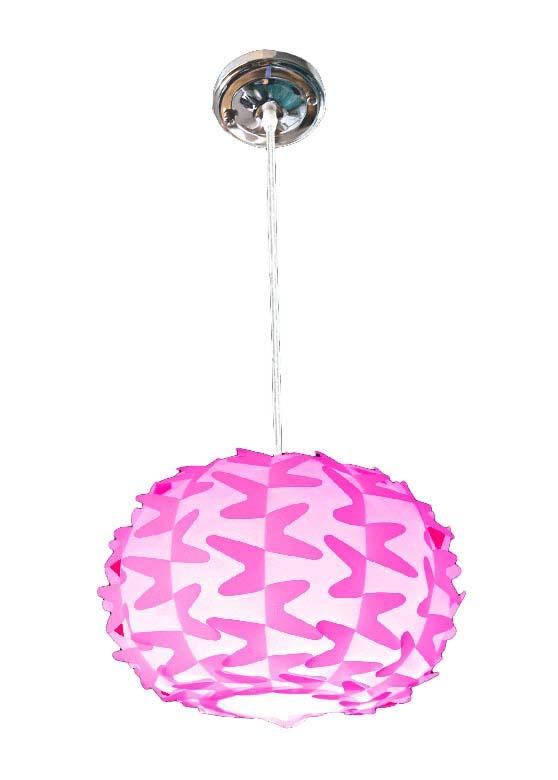 Lustră Chip, 18x28x28 cm, plastic, roz