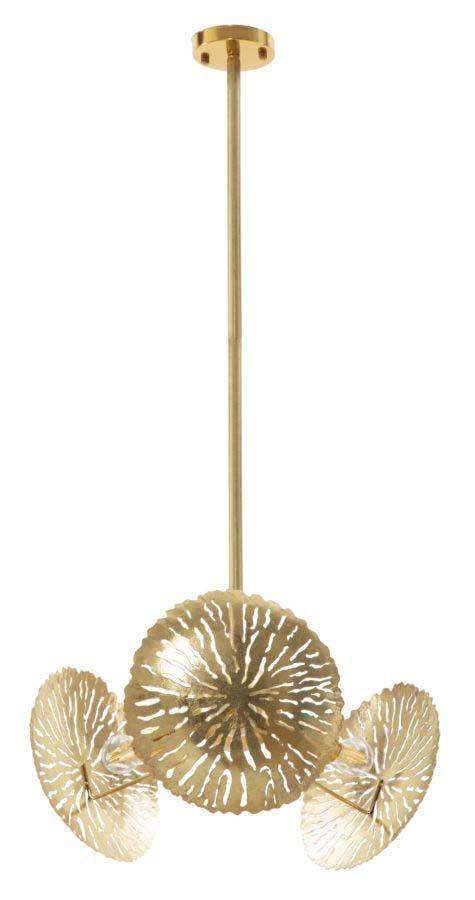 Lustră Dishy, 105x42x42 cm, metal, auriu