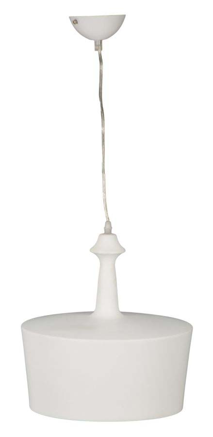 Lustră Geneve, 28x31x31 cm, metal, alb