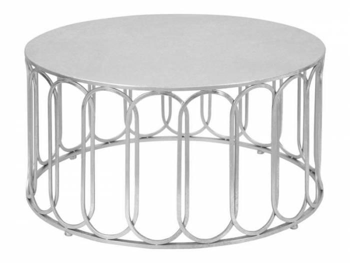 Masă de cafea Roman, 42x80x80 cm, metal, argintiu
