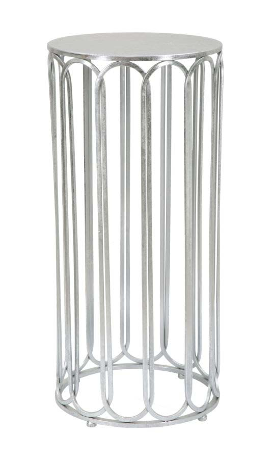 Masă de telefon Roman, 80x37x37 cm, metal, argintiu
