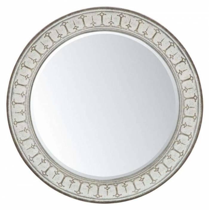 Oglindă de perete Mok, 106x106x7.7 cm, metal/ mdf/ sticla, gri/ maro