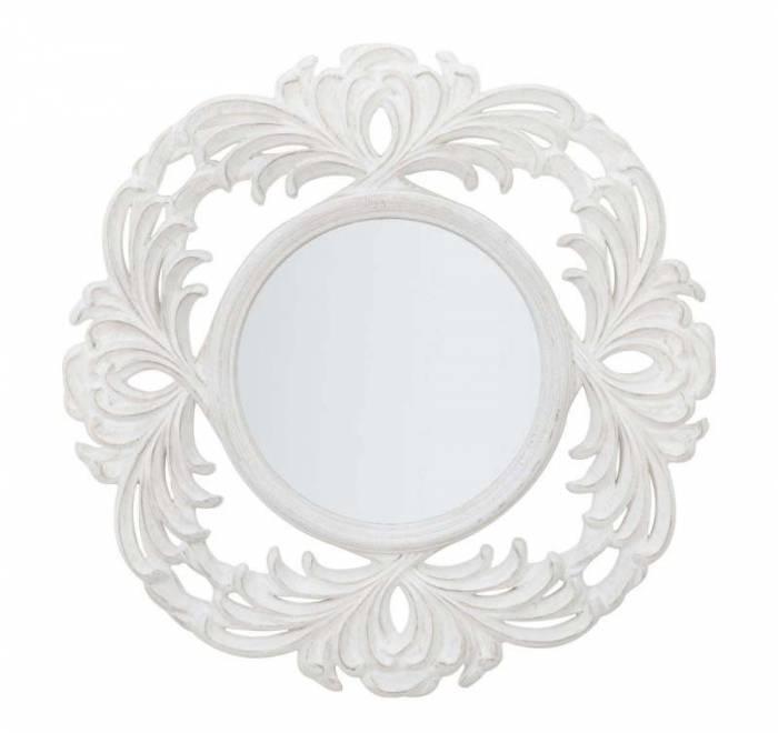 Oglindă mică Luxembourg, 75x75x3.4 cm, polirasina, alb