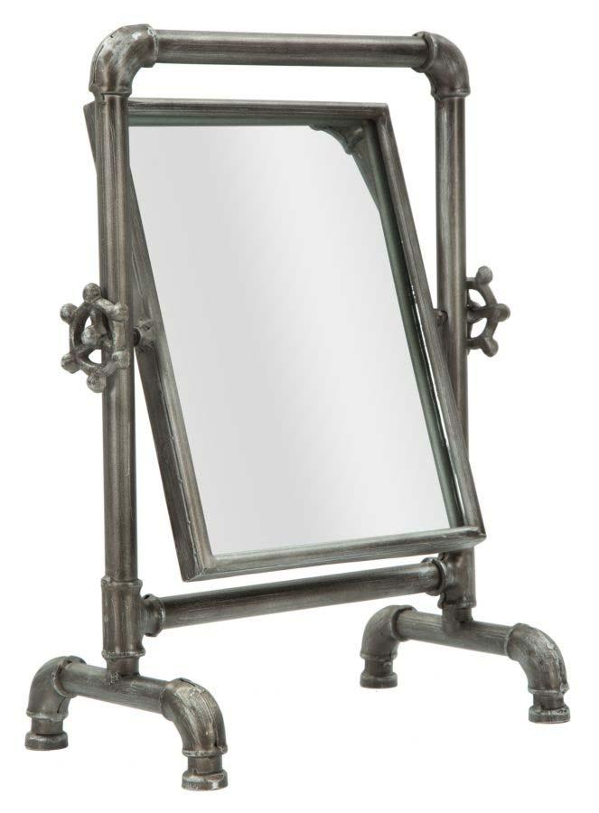 Oglindă Tube, 36.5x27x16.5 cm, metal/ sticla, negru