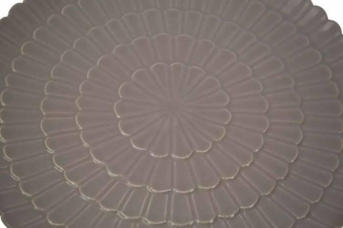 Platou Flower, 2.5x33x33 cm, portelan, gri