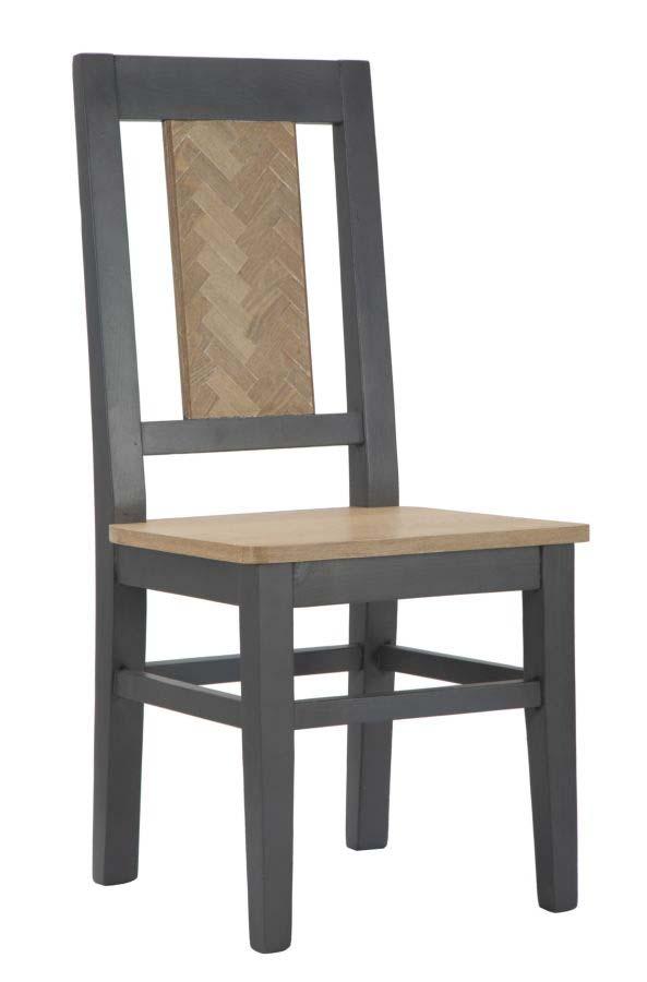 Set 2 Scaune Male, 96x44x44 cm, lemn de brad/ furnir/ mdf, maro/ gri