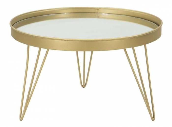 Stativ Glam Auriu, 22x36.5x36.5 cm, metal/ sticla, auriu