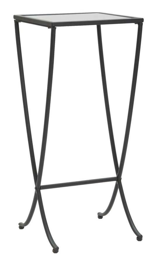Suport flori Negru, 80x35x35 cm, metal/ sticla, negru