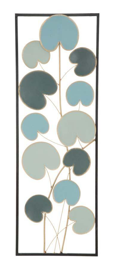Decorațiune de perete Alle Right, 88.5x30x1.5 cm, metal, albastru poza
