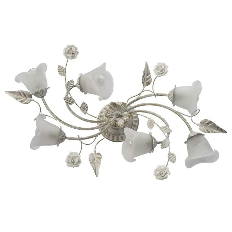 Lustră metalică albă cu motive florale Blossom M imagine