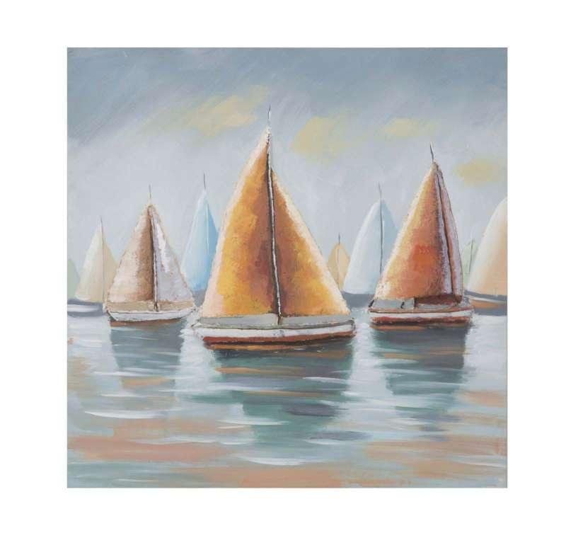 Tablou Sidney 2, 80x80x4 cm, lemn de pin/ canvas, multicolor poza