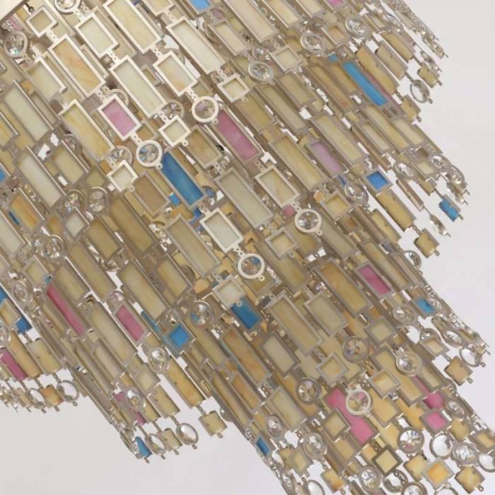 Candelabru multicolor cu cristale Florida S