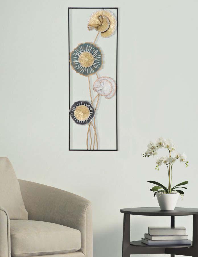 Decorațiune de perete Let Right, 88.5x30x5 cm, metal, multicolor