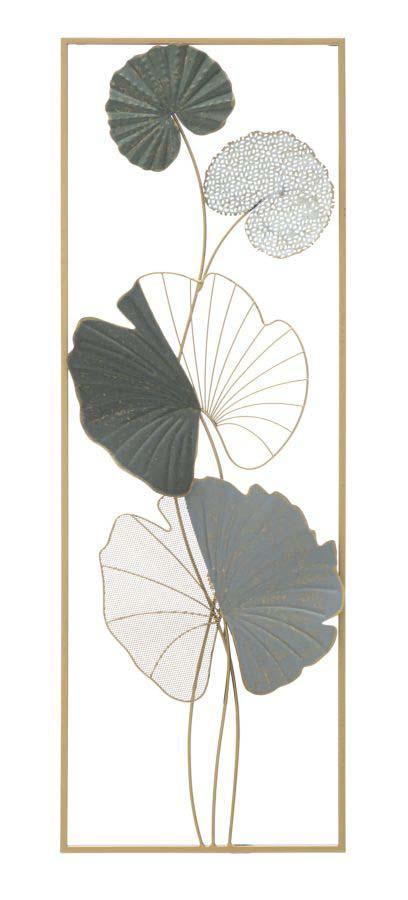 Decorațiune de perete Lotus Left, 89,5x31x5 cm, metal, multicolor