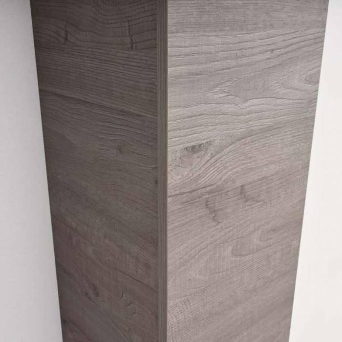 Dulap suspendat Cube Rovere Grigio, 140x31x29 cm, melamină, gri
