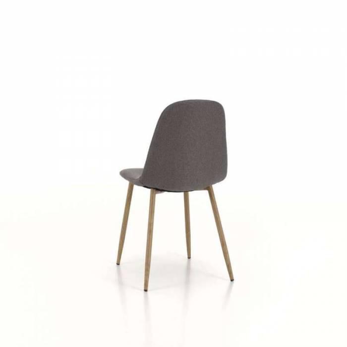 Set 4 scaune de dining Damasco, 88x42x44 cm, metal/textil, gri închis