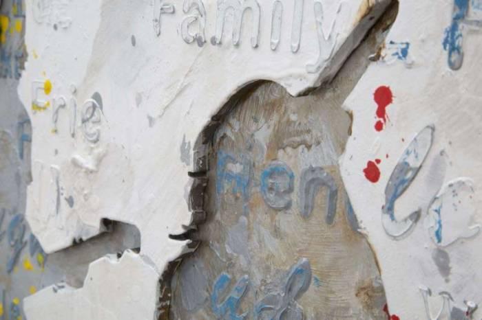 Tablou Rock&Roll 2, 120x60x3 cm, lemn de pin/ canvas, multicolor
