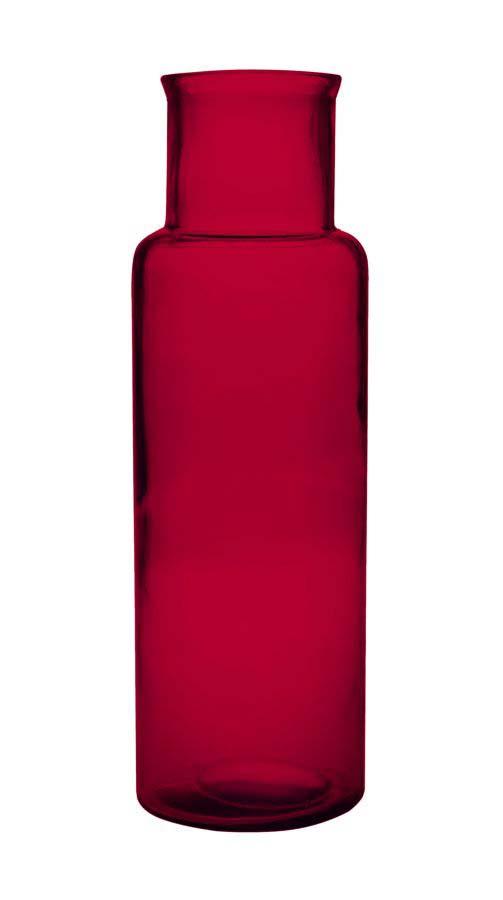 Vază decorativă Medusa S, 45x15x15 cm, sticla, rosu