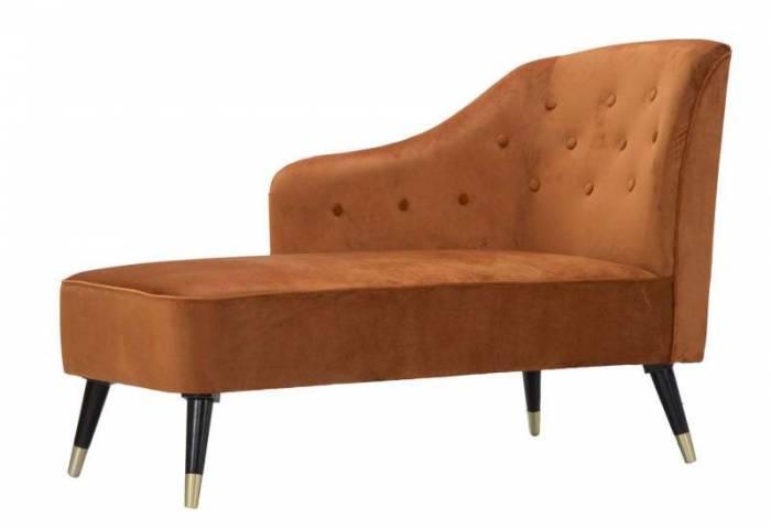 Canapea sofa Paris, 90x132x62 cm, lemn de pin/ metal/ poliester, negru/ auriu