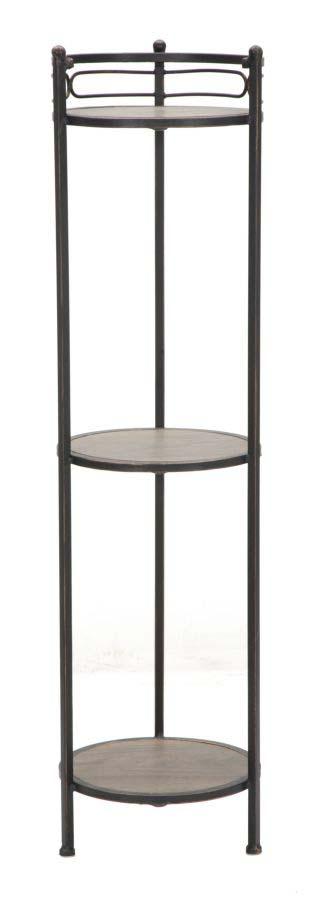 Etajeră Essential, 112x28x28 cm, metal/ mdf, negru/ maro