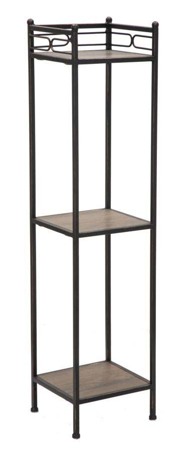 Etajeră Essential , 122x26x26 cm, metal/ mdf, negru/ maro