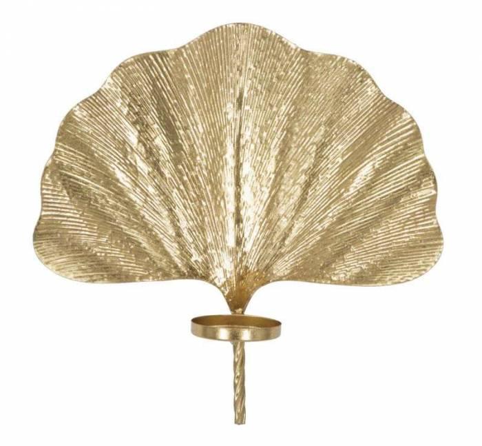 Sfeșnic de perete Glam, 40x41x11,5 cm, metal, auriu
