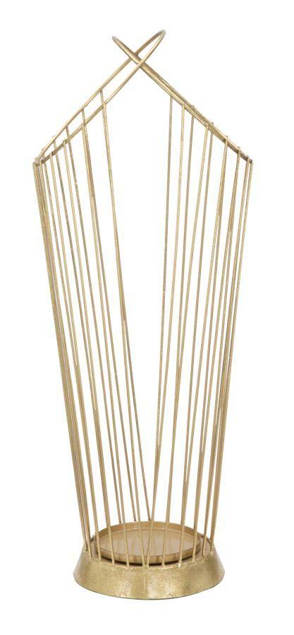 Suport de umbrele Glam Stick, 68,5x26,5x23 cm, metal, auriu