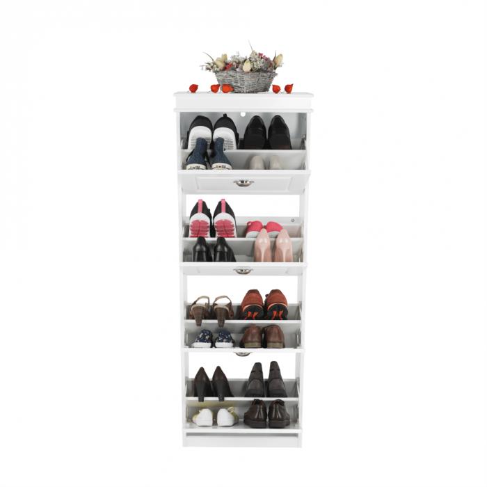 Pantofar, 4 compartimente, alb, SEBER TYP 3