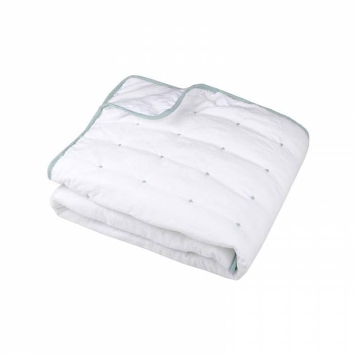 Pătură capitonată albă Honorine Blanc 130x160 cm