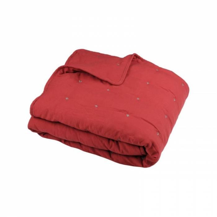 Pătură capitonată roșie Honorine Rouge 130x160 cm